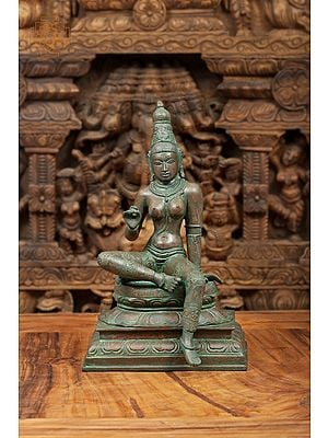 Seated Uma on a Multilayered Lotus Plinth (Goddess Parvati)