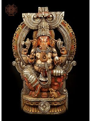 Massive Lord Ganesha Seated on Throne