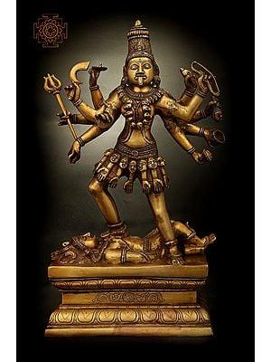 Ashtabhujadhari Kali in Her Iconic Posture