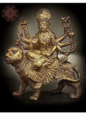 Goddess Durga Seated on Lion
