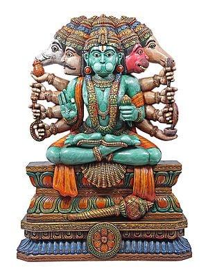 Large Seated Panchmukhi Hanuman