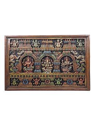 Lakshmi Ganesha Saraswati Panel