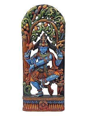 Blue Hued Shiva in Tandava