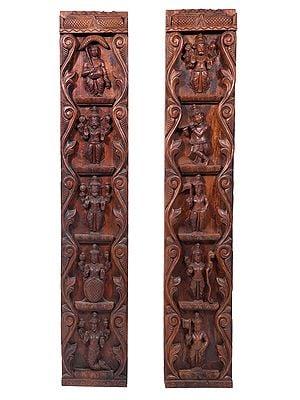 Large Vishnu Dashavatara Pair (Wall Hanging)