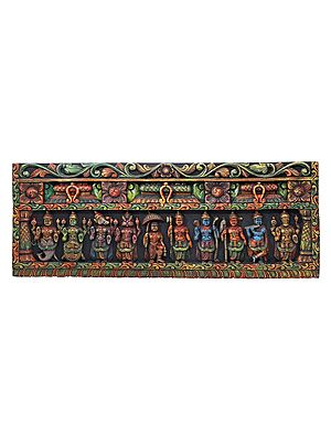 Colorful Dashavatara Panel