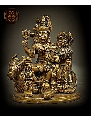 Small Shiva Parivar with Nandi