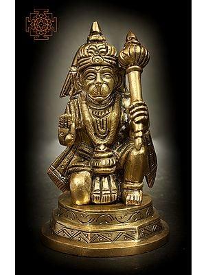 Seated Small Hanuman in Ashirwad Mudra