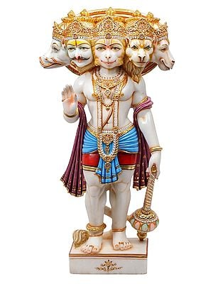 The Pristine Lord Pancamukha Hanuman (Superfine)