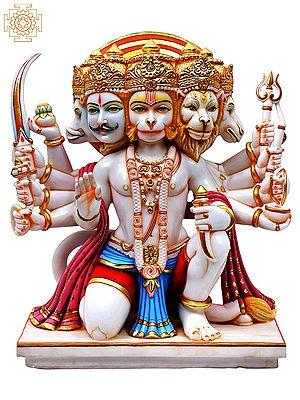 Panchamukhi Hanuman in Abhaya Mudra