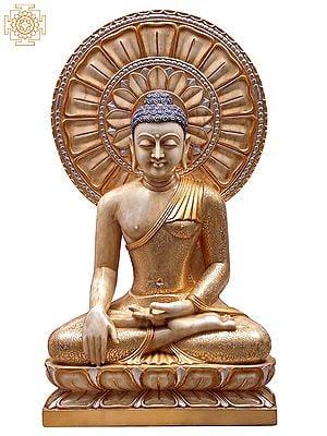 Large Superfine Cosmic Flower Haloed Bhumisparsha Buddha
