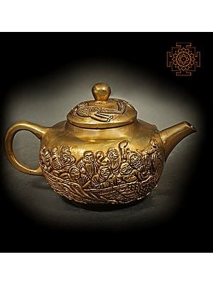 Small Kettle Decorated With Human Figures