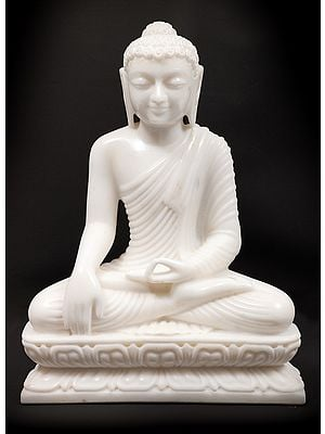 Pristine Monotone Buddha At The Juncture Of Enlightenment