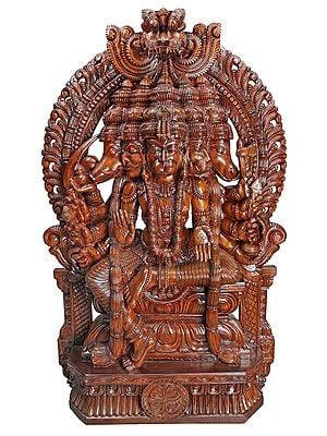 Dashabhujadhari Lord Panchamukha Temple Sculpture