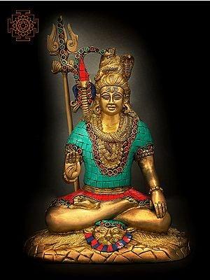 Shiva in Spiritual Bliss (Inlay Stone Work)