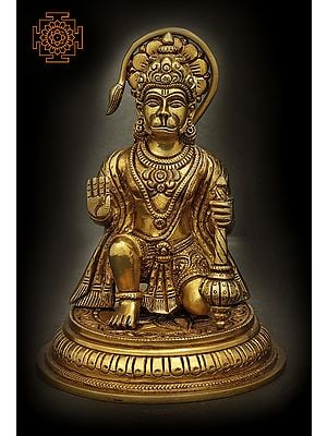 Lord Hanuman Seated in Abhay Mudra