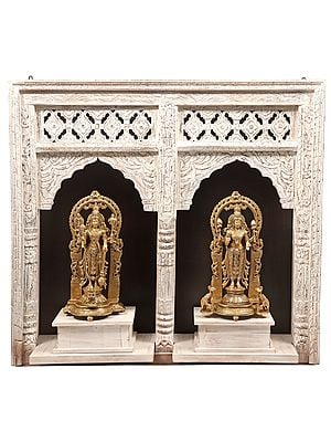 Standing Vishnu-Lakshmi Wall-Hanging Temple