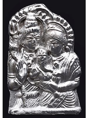 Baby Ganesha in the Lap of His Parents - Shiva Parvati