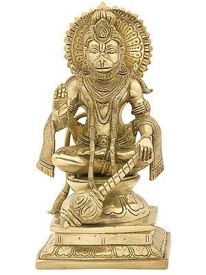 Lord Hanuman Blessing in a Yogic Posture
