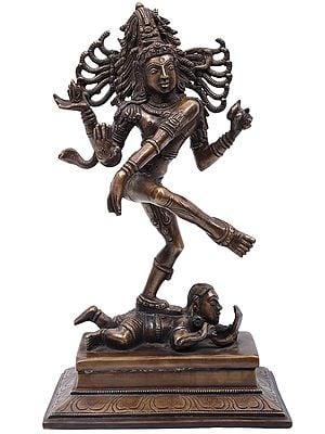 Supremely Crowned Nataraja - The Cosmic Dancer
