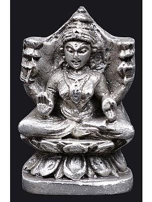 Devi Lakshmi Seated On Lotus