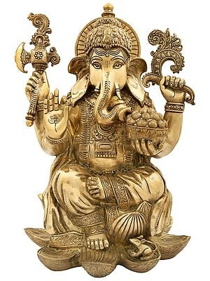 Superfine Lord Ganesha in a Composed Posture