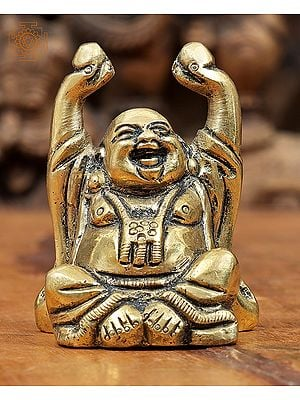 Small Laughing Buddha Carrying Wealth Balls
