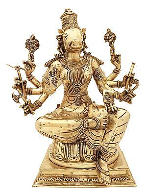Superfine Statue of Goddess Varahi - Bestower of Siddhi
