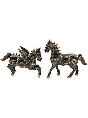 Pair of Mythological Horses