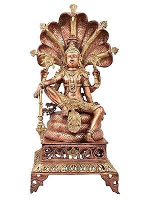 Lord Vishnu Seated on Sheshanaga