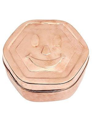 Smiley Face Copper Box