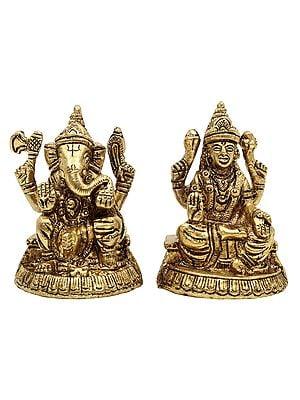 Small Lakshmi Ganesha Pair