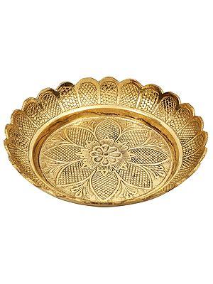 Designer Small Brass Plate (Heavy)