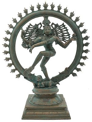 "14"" Lord Nataraja, A Flawless Rendition | Handmade | Madhuchista Vidhana (Lost-Wax) | Panchaloha Bronze"