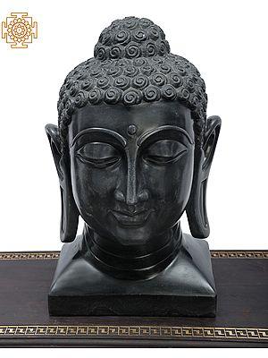 Black Marble Lord Buddha Head | Handmade in Jaipur | Tibetan Buddhist