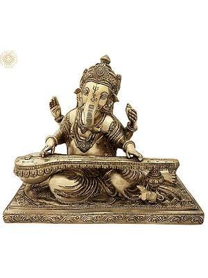 Lord Ganesha Playing Veena