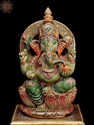 Superfine Bhagawan Ganesha Seated on Lotus