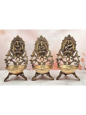 Lakshmi-Ganesha-Saraswati Dia Trifecta