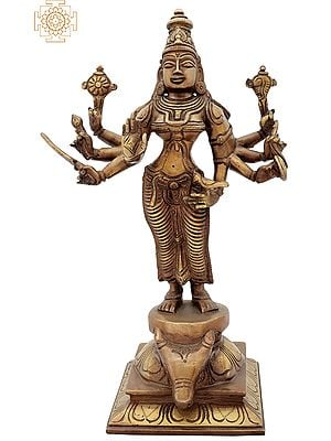 Devi Durga Standing on Buffalo Head