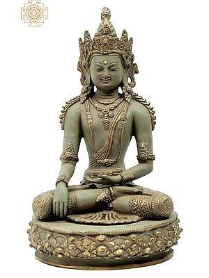 Crowned And Bedecked, Bhoomisparsha Shut-Eyed Buddha
