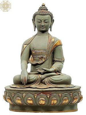 Bhumisparsha Buddha Seated on Pedestal