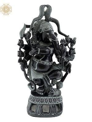 Dashabhuja Dhari Dancing Ganesha
