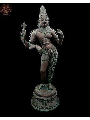 Tribhanga Ardhanarishvara With A Coppery Finish