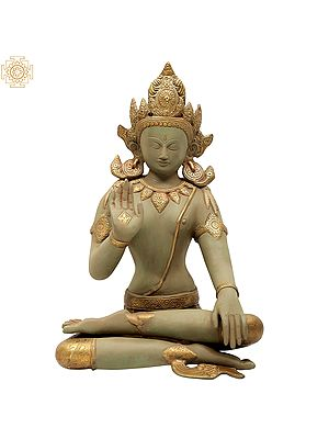 Green-And-Gold Seated Buddha