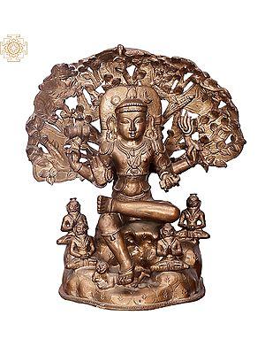"""14"""" Dakshinamurti Shiva   Handmade   Madhuchista Vidhana (Lost-Wax)   Panchaloha Bronze from Swamimalai"""