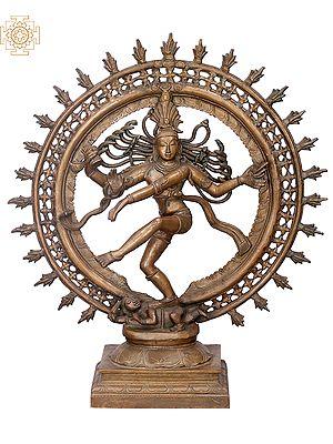 "23"" Double Arcgh Nataraja | Handmade | Madhuchista Vidhana (Lost-Wax) | Panchaloha Bronze from Swamimalai"