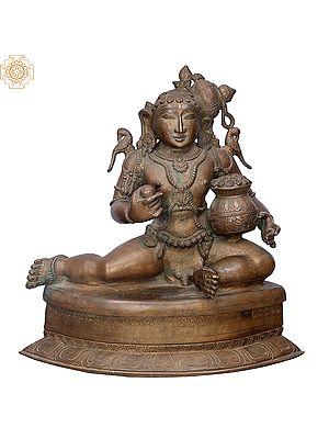 "16"" Butter Krishna | Handmade | Madhuchista Vidhana (Lost-Wax) | Panchaloha Bronze from Swamimalai"