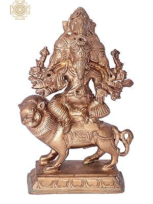 "7"" Panchamukhi Ganesha | Handmade | Madhuchista Vidhana (Lost-Wax) | Panchaloha Bronze from Swamimalai"