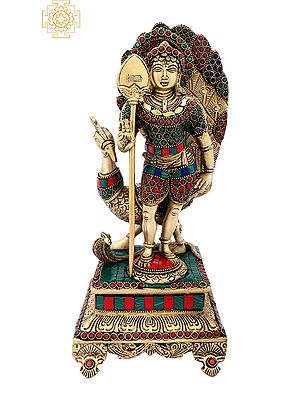 Kartikeya (Murugan) with Colorful Inlay Work