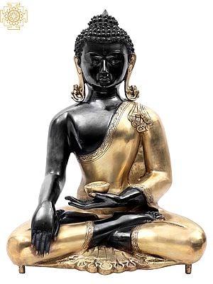Black Budda Adorned in a Golden Robe