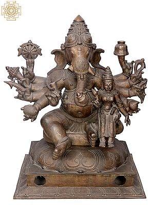 "32"" Large Sri Vallabha Ganapati | Handmade | Madhuchista Vidhana (Lost-Wax) | Panchaloha Bronze from Swamimalai"
